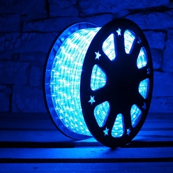 Tubo luminoso flessibile decoLED - colore blu, 50m, decoLED