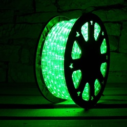 Tubo luminoso flessibile decoLED - colore verde, 50m, decoLED