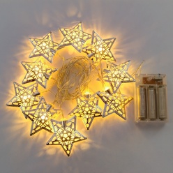 Catena luminosa decoLED, stelle con timer - bellissimo Natale
