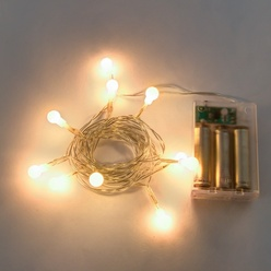 Catena luminosa decoLED, a batteria - 2,1 m, LED 10 diodi a luce bianca calda