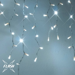 Stalattiti luminose decoLED - 3x1 m, LED 174 diodi luce bianca fredda con effetto FLASH, decoLED