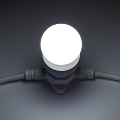 Lampadina LED decoLED - presa E27, 12 diodi luce bianca fredda, decoLED