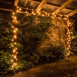 Catena luminosa decoLED - 8m, LED 80 diodi luce bianca calda con effetto FLASH