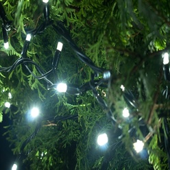 Catena luminosa decoLED a batteria -  5,2 m, luce bianca fredda