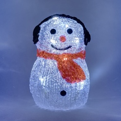 Pinguino di Natale decoLED - 15cm, batteria, decoLED