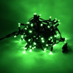 Catena luminosa decoLED - LED 50 diodi luce verde, 5 m