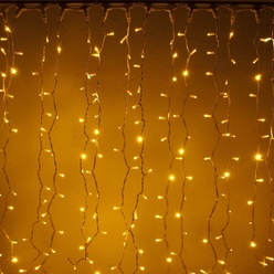 Catena luminosa decoLED - 1x1,5 m, LED 150 diodi a luce bianca calda, decoLED