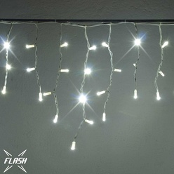 Stalattite luminosa effetto FLASH decoLED - 3x0,5 m, LED 114 diodi luce bianca fredda, decoLED