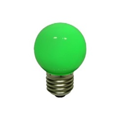 decoLED LED lampadina, base a vite E27, verde