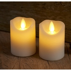 candele mini led, set 2 pc, bianca